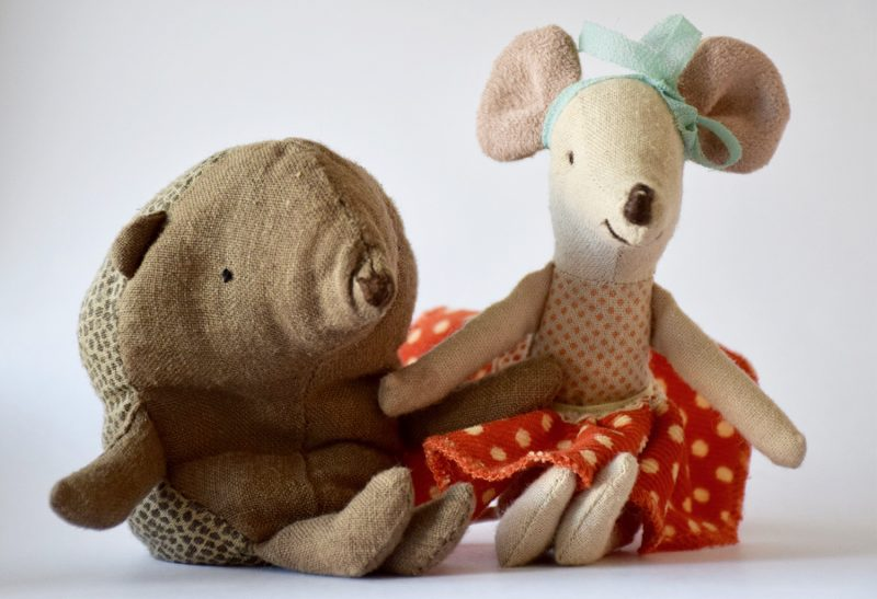 hedgehog and mouse toys from Maileg