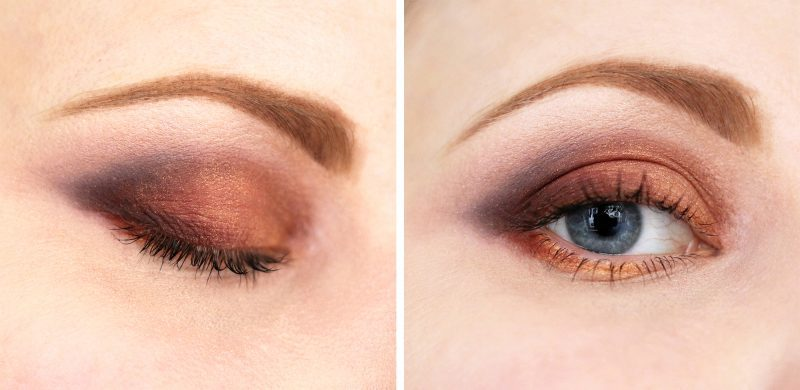 Easy colourful eyeshadow