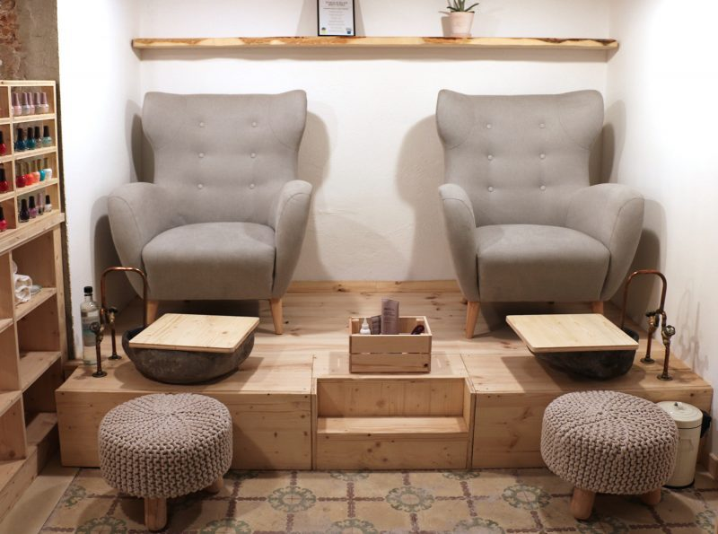 Vegere vegan spa pedicure station
