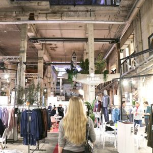 Checking out brands at the Ethical Fashion Show and Green Showroom