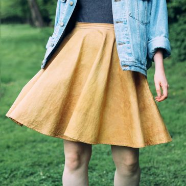 Skirt dyed yellow with onion skins