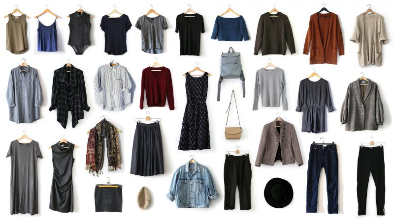 Pieces in my fall 2018 capsule wardrobe