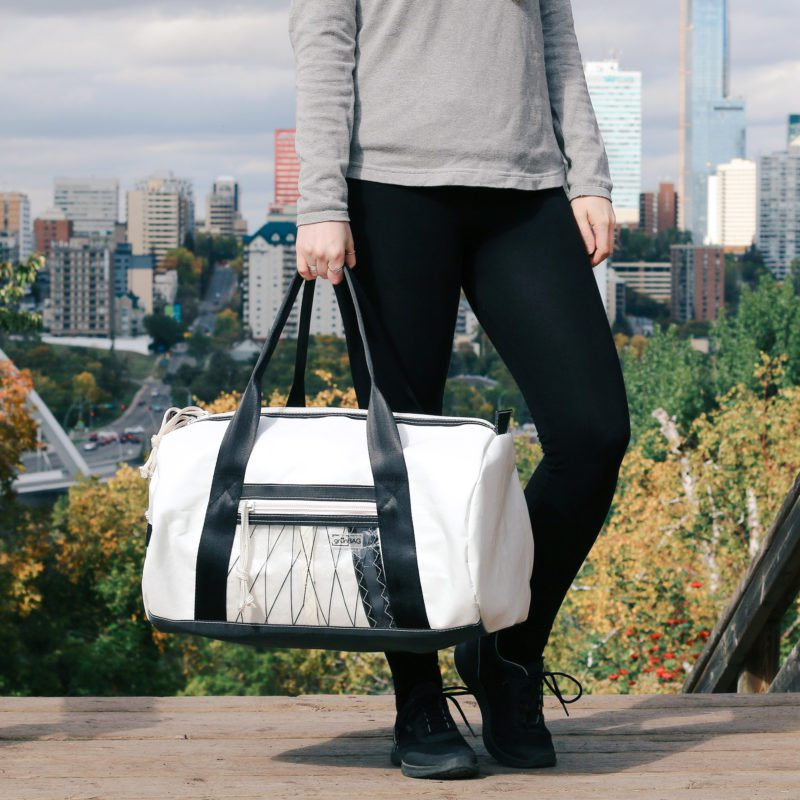sport/travel bag from grünBAG - made from recycled sails and seat-belts