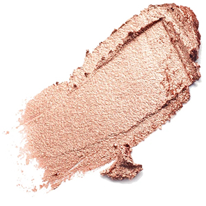 "Au Naturale creme highlighter in ""rose gold"" with child labor free mica"