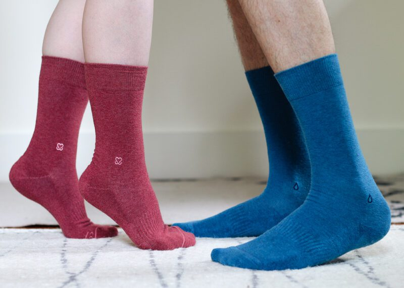 Sustainable, organic socks from Conscious Step that give back!