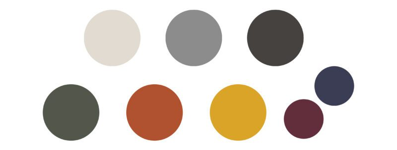 Capsule wardrobe colour palette for fall