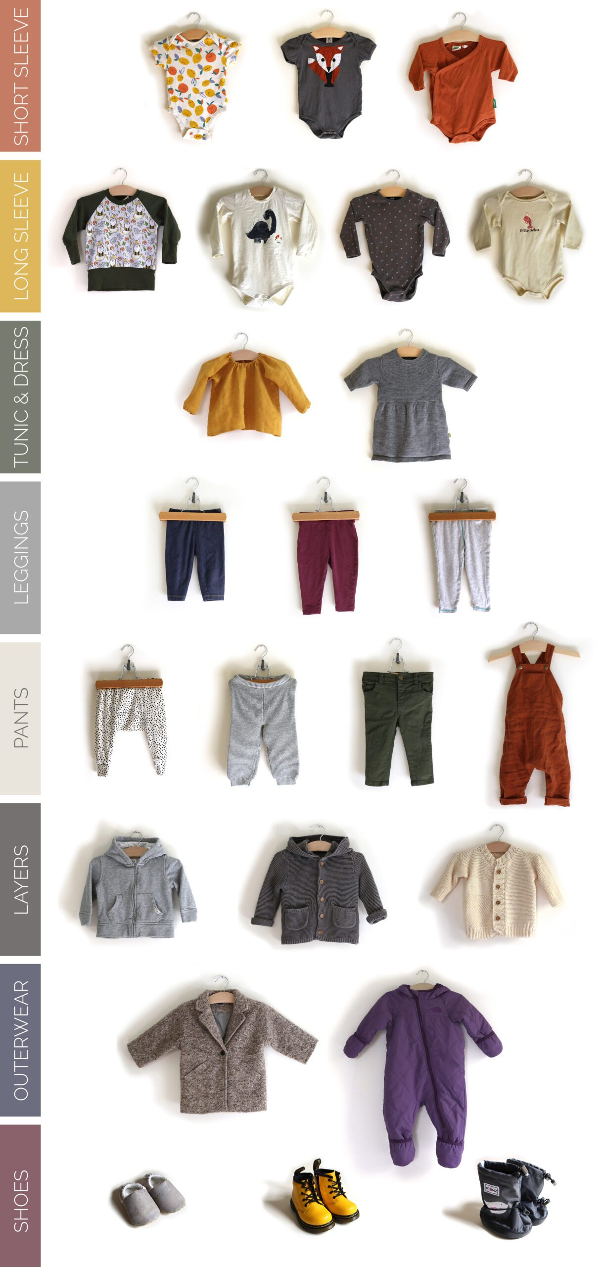 24 piece baby/toddler capsule wardrobe for fall and winter