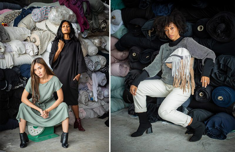 Zero wate fashion brand, Tonle uses all deadstock and reclaimed fabrics