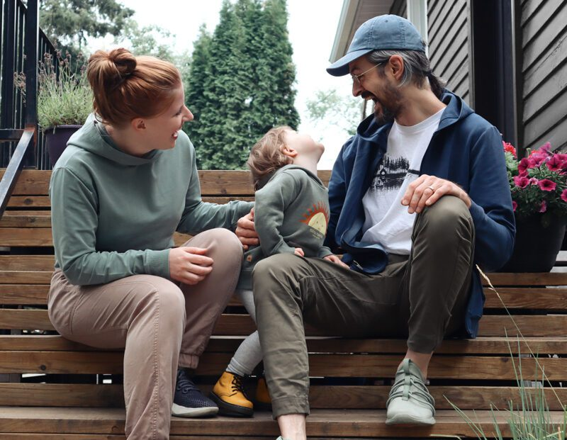 Our family in tentree - Sustainable clothing for the whole family